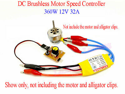 360W 30A High-Power 12V DC 3-phase Brushless Motor Speed Control PWM Controller
