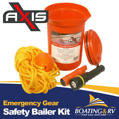 Safety Bailer Kit - Emergency Gear for Powerboats, Yachts, PWC & Marine