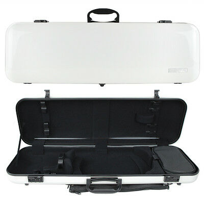 GEWA Air 2.0 Oblong Violin Case for 4/4 Full Size Violin White Gloss