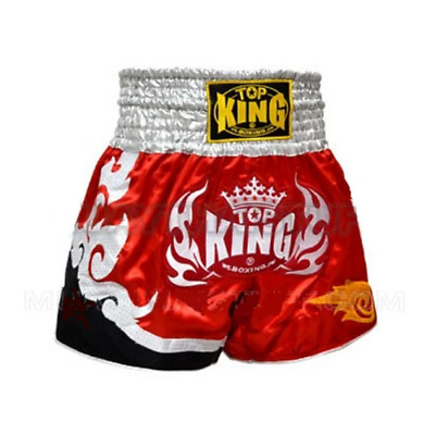 Top King Muay Thai Shorts TK-TBS-97 Red White Kickboxing Boxing