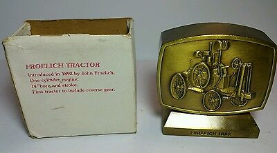 John Deere Credit Union 1981 Fourth (4th) Edition Froelich Tractor Coin Bank