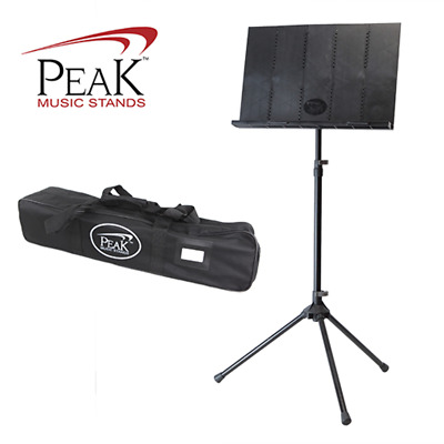 Peak Collapsible Music Stand Standard Height Aluminium Base SMS40 - 152cm Tall
