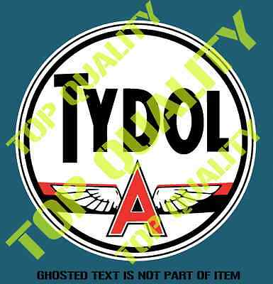 VINTAGE TYDOL FLYING A Decal Sticker Vintage Americana Hot Rod Rat Stickers