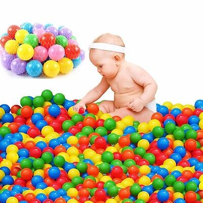 Colorful Simple 100 pcs Ball Soft Plastic Ocean Ball Baby Kid Toy Swim Pit Toy