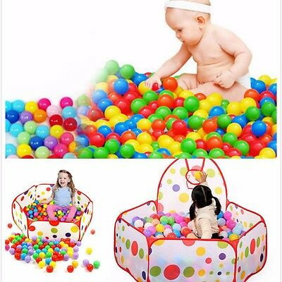 100Pcs Colorful Soft Plastic Ball Ocean Ball for Baby Kid Pit Gaming Toy 5.5cm
