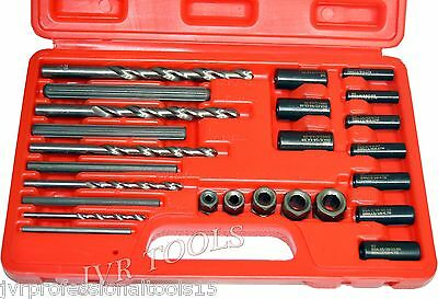 25pc Screw Extractor Easy Out Drill & Guide Set Broken Screws Bolts Remover NEW