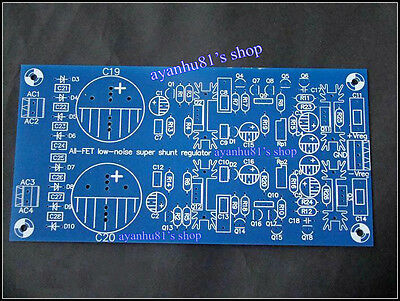 All FET Low Noise Super Shunt Regulator Power Supply Board PCB for DAC Preamp