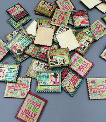 Mix Retro Embellishments  Scrapbooking stamps randomly scrapbook Charms 30mm