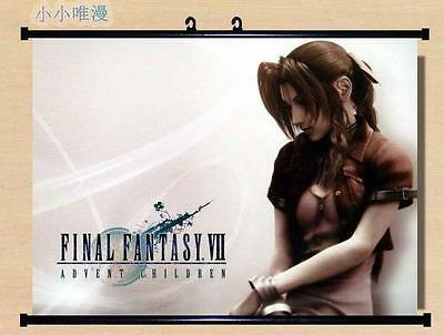 Cloud Strife Final Fantasy VII 7 Japan Anime Home Wall poster Scroll 60*45cm 006