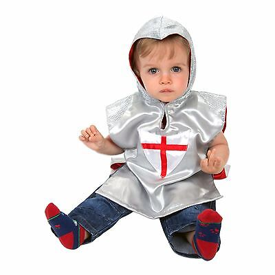 Luxury Baby Toddler Silver Grey Knight Costume Fancy Dress (1-2yrs) Slimy Toad