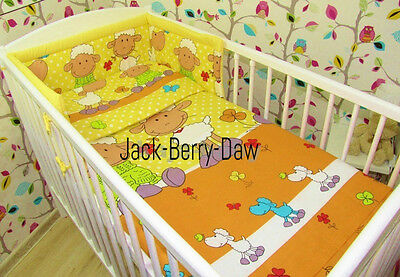 Baby Toddler 2 piece bedding set PILLOWCASE & DUVET COVER - To Fit Cot SHEEP