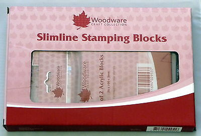 woodware Acrylic block box set contains 9 asst sizes ,for clear stamps etc