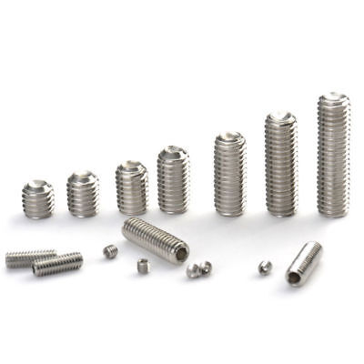 M3 304 Stainless Steel Hex Socket Set Screws with Cup Point Grub Screw DIN916