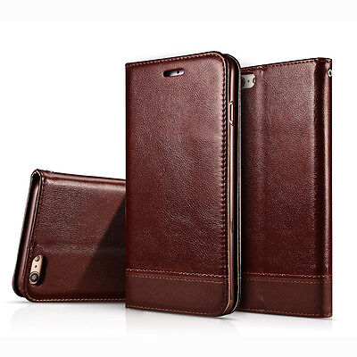 Slim Leather Wallet Card Holder Flip Case Cover Stand For Apple iPhone 6S 6 Plus