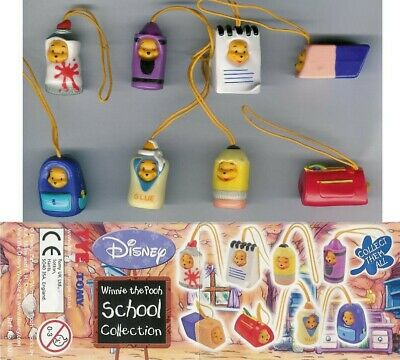 TOMY Set 8 Figure WINNIE POOH SCHOOL EDITION Mini Winnies Peek A Pooh FIGURES