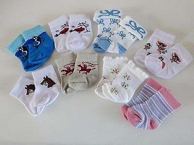 """NEW-DOLL SOCKS [8 Pairs] fit 18"""" Dolls such as American Girl Dolls - LOT #202"""