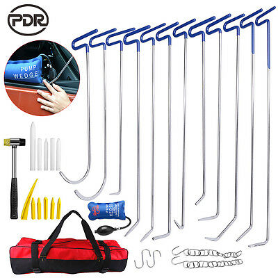 31× PDR Tools Push Rods Auto Body Paintless Dent Repair Hail Ding Removal Puller