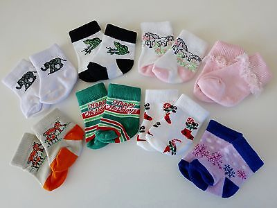 """NEW-DOLL SOCKS [8 Pairs] fit 18"""" Dolls such as American Girl Dolls - LOT #203"""