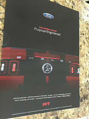 2014 Ford Mustang Shelby GT500 8-page Original Sales Brochure & Poster