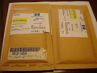 HP 495X Utility Disks 1 & 2 (New in Sealed Mfg. bags) P/N 5010-5057 & 5010-5058