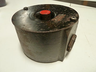 Vintage Cast Iron/steel Ge Red Stop Momentary Switch Steampunk