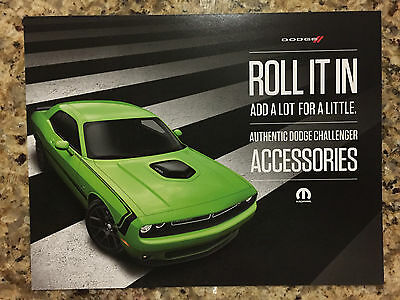 2015 Dodge Challenger Sublime R/T Accessories 2-page Original Sales Brochure