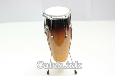 Conga Drum Acoustic Percussion Musical Instrument Miniature For Display Only