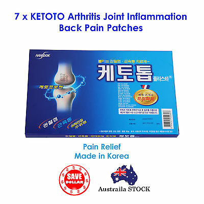 7x KETOTOP Arthritis Joint Inflammation Back pain Neck Patches Relief Relive