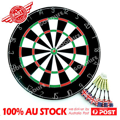 "18"" Two Side Printing Dart Board+6 Darts Steel wire inlay durable Birsthday Gift"