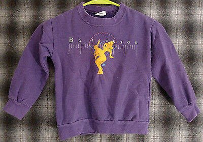 vintage BO JACKSON NIKE purple sweatshirt Youth 4 Gray Tag USA Baseball Football