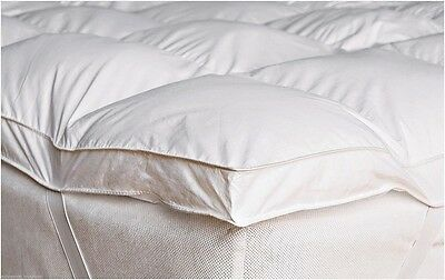 Luxury Goose Feather & Down Mattress Topper Matress Cover Available Double/ King