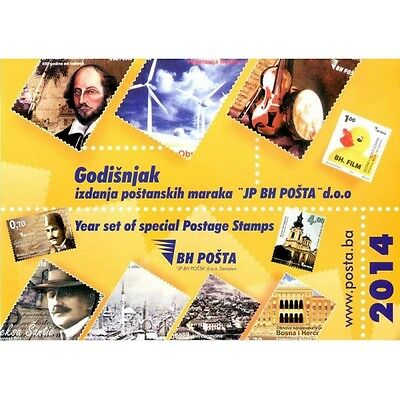 Year pack of postage stamps issued in 2014th