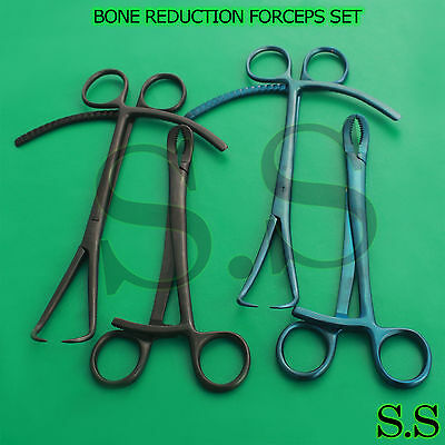 Set Of 4 Pcs Bone Reduction Forceps Set Orthopedic Instruments