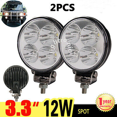 """2X 3.3"""" inch 12W CREE Spot LED Work Light Offroad Round Lamp Offroad Truck ATV"""