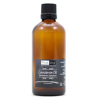 100ml Pure Aromatherapy CINNAMON Essential Oil Free P&P