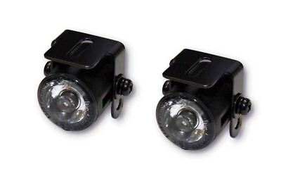 Micro LED Motorcycle Custom Daylight Running Spot Lights Black with Bracket