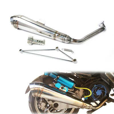 Stainless Steel GP Exhaust Muffler System for Zoomer with GY6 125/150cc Scooters