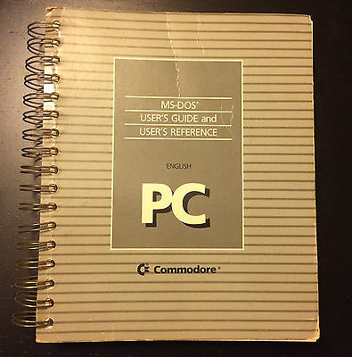 Commodore PC MS-DOS User's Guide and Reference
