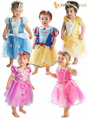Deluxe Disney Princess Costume Baby Toddler Girl Fancy Dress Up Outfit Book Day