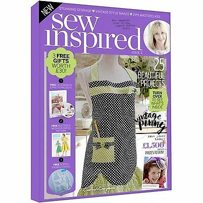 Sew Inspired Magazine Issue 3 With 3 Free Gifts Worth £30 - 25 Projects
