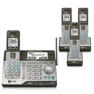 AT&T CLP99483 DECT 6.0 4 Handset Cordless Phone W/ Backlit LCD Display