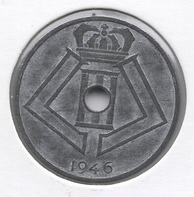 25 cent 1946 frans/vlaams * PRINS KAREL *