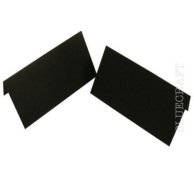 Black Premium Quality Place Name Cards 45 x 90mm - All Quantities