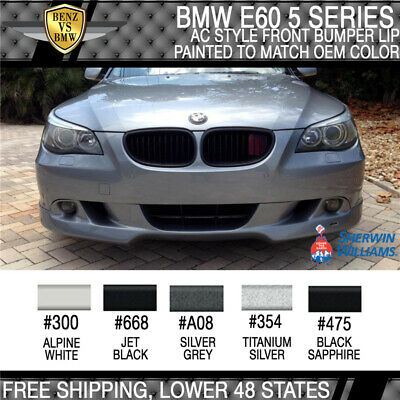 2004-2007 BMW E60 5-Series AC Style Front Bumper Lip Painted To Match OEM Color