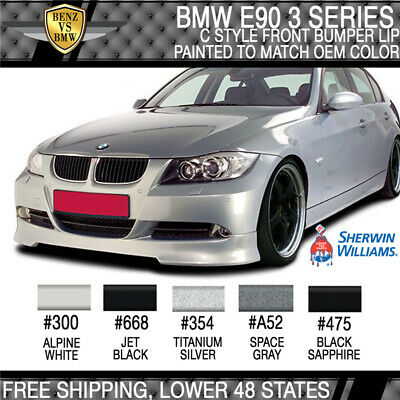 2005-2008 BMW E90 3 Series C Style Front Bumper Lip Painted To Match OEM Color
