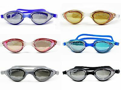 Adult Waterproof Anti-Fog UV Eye Protect Swim Glasses Swimming Goggle Adjustable
