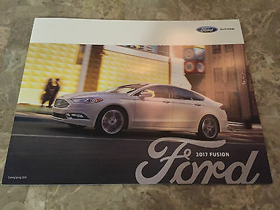 2017 Ford Fusion 6-page Original Sales Brochure