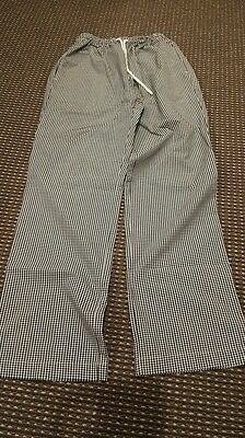 Chef Drawstring Checker Trousers Size M and size L