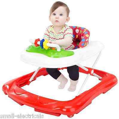 New Baby kids Walker Musical Activity Play Tray & Adjustable Height - Red Spots