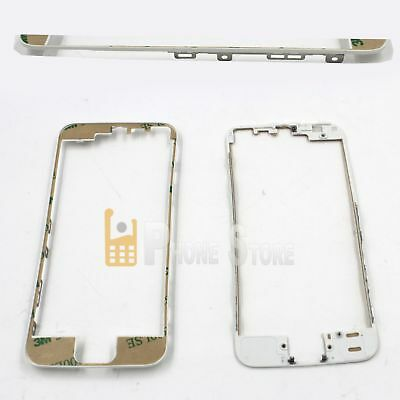 iPhone 5S GLAS Display Frame LCD Mittel Rahmen Front Cover +Kleber  Weiß Weiss